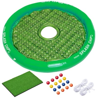 GoSports Splash Chip Floating Golf Game - Includes Chipping Target, 16 Foam Golf Balls, 1 Chipping Mat and Tethering Ropes