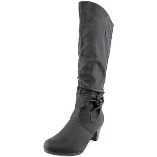 Tender Tootsies Katelin Wide Calf Women  Round Toe Synthetic  Knee High Boot