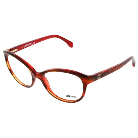 Just Cavalli JC0477/V 050 Maroon Butterfly Optical Frames - 52-17-135