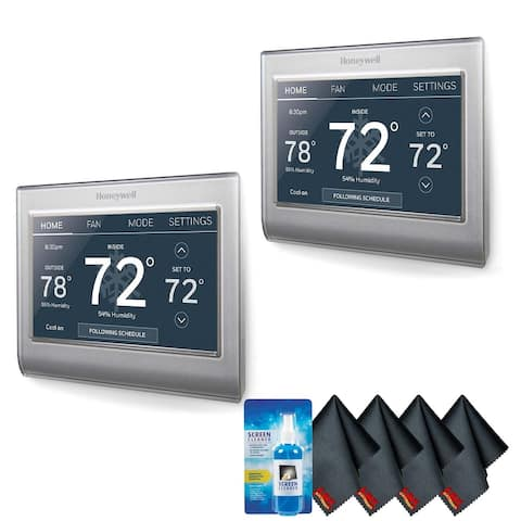Honeywell Home RTH9585WF1004 Wi-Fi Smart Color Thermostat Bundle 2