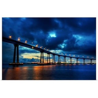 """Coronado Bridge Sunset"" Poster Print"