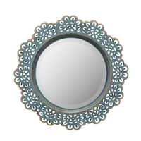 Decorative Metal Lace Mirror with Attached Wall Hanger - Multi - Medium