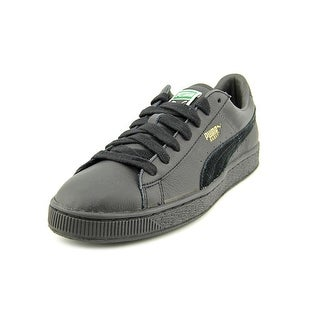 Puma Basket Classic Men Round Toe Leather Black Sneakers