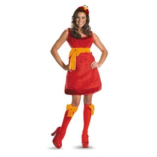 Disguise Sesame Street Elmo Sassy Adult Costume - Red (3 options available)