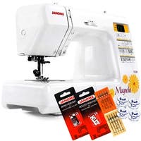 Janome Magnolia 7330 Computerized Sewing Machine With Free 5-Piece VIP Package