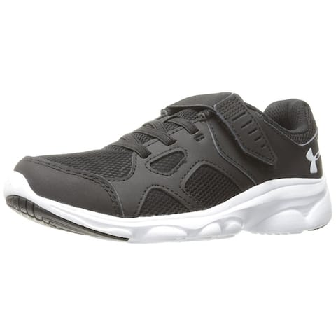 4390057e1107 Under Armour Boys  Pre School Pace Adjustable Closure Shoes - Black White -  1