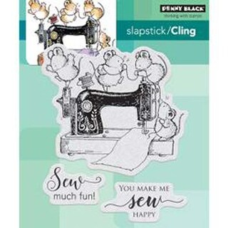 """Sew Much Fun - Penny Black Cling Stamps 5""""X7"""""""
