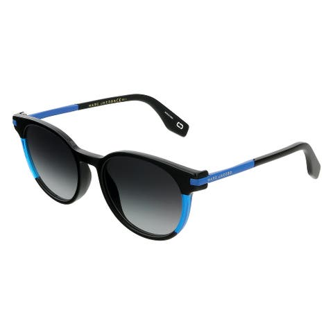 Marc Jacobs MARC 294/S D51 Black/Blue Square Sunglasses - 52-19-140