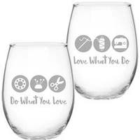 Do What You Love - Quilt Happy Barrel Shaped Glass 21Oz
