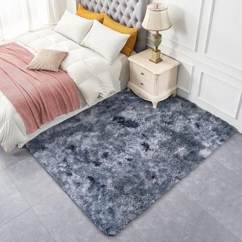 Fluffy Bedroom Rugs Indoor Shaggy Plush Area Rug