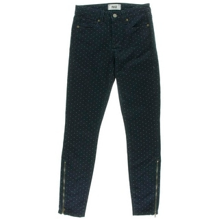 Paige Womens Hoxton Mid-Rise Skinny Fit Ankle Jeans - 24