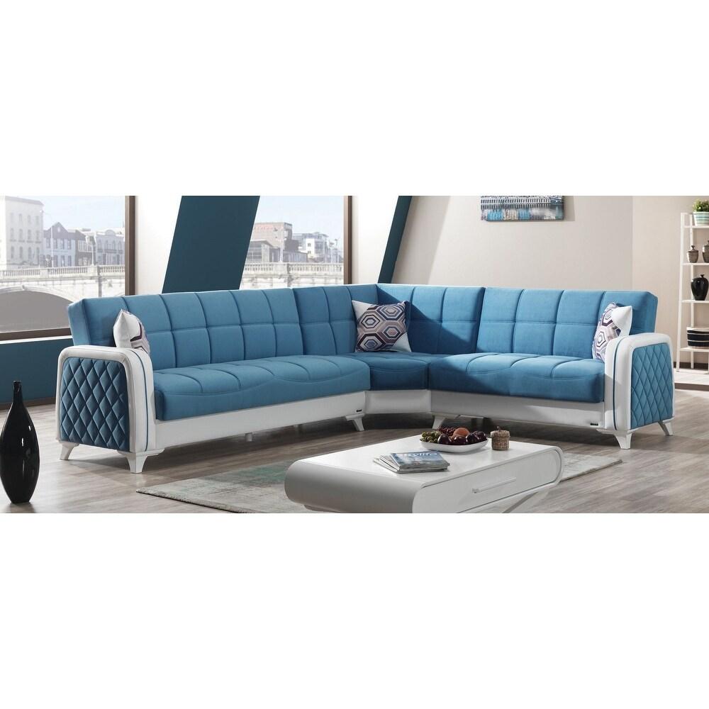 - Overstock Elliot Living Room Modern Sectional Convertible Sleeper