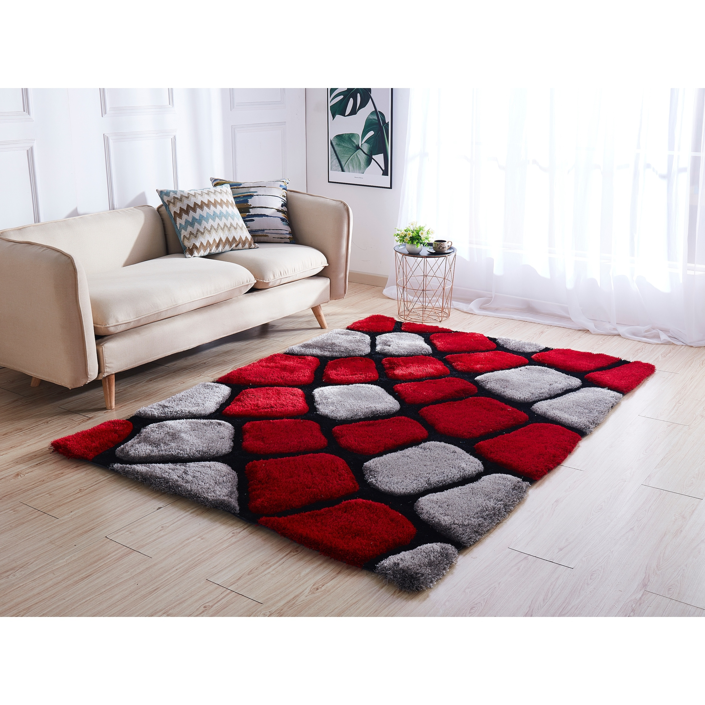 Shop For Mateos Shag Collection Stone Area Rug Get Free Delivery On Everything At Overstock Your Online Home Decor Store Get 5 In Rewards With Club O 30342562