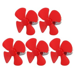 DC 6V 0.38A 7800RPM Strong Force Motor 4 Vanes Red Propeller 60mmx2mm 5Pcs