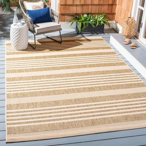 SAFAVIEH Courtyard Charmaine Indoor/ Outdoor Patio Backyard Rug