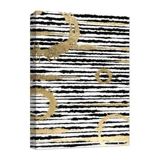 """PTM Images 9-124872  PTM Canvas Collection 10"""" x 8"""" - """"Black & Gold"""" Giclee Abstract Art Print on Canvas"""