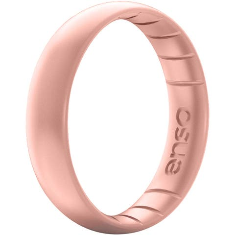 Enso Rings Thin Elements Series Silicone Ring - Rose Gold