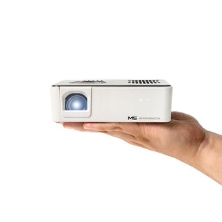 AAXA M5 Mini Portable Business Projector with Battery, 900 Lumens High Brightness, WXGA, Onboard Media Player, 20k Hours LED