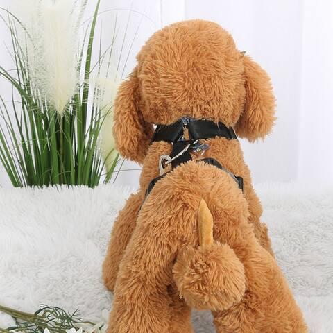 Durable Adjustable Comfortable Dog Harness with Handle Outdoor Soft Dog Training Walking Collar Black