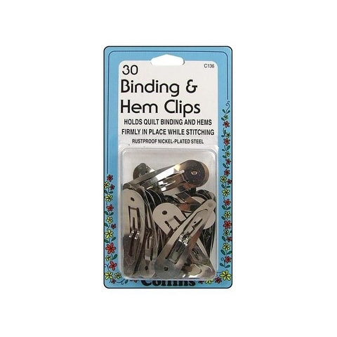 Collins Binding & Hem Clips 30pc