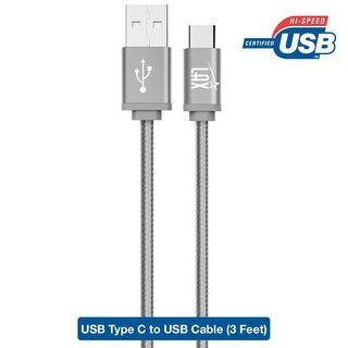 LAX USB Type C Cable, 6 Ft Braided Cord For Typc C Devices