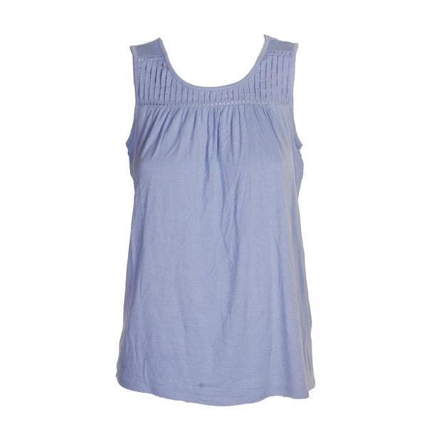 Maison Jules Juniors Lace-Shoulder Top Blue Notte S