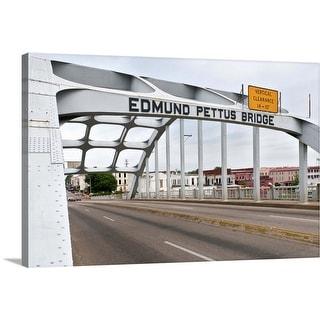 """Edmund Pettus Bridge, crossing the Alabama River"" Canvas Wall Art"