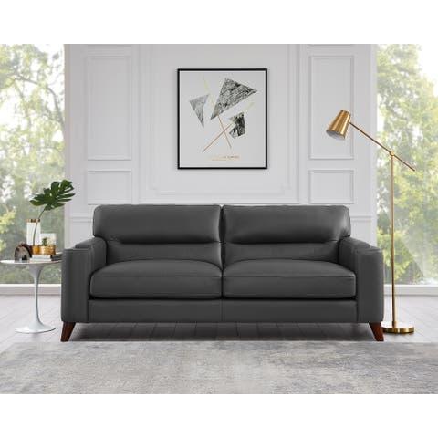 Hydeline Elm Top Grain Leather Sofa