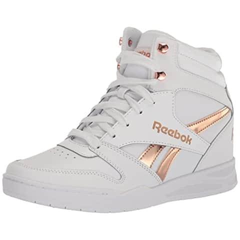 Reebok Women's BB4500 HI 2 Sneaker, White/Rose Gold