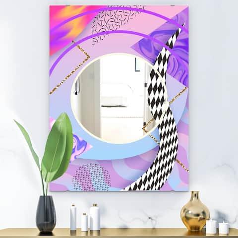 Designart 'Spacy Dimensions 6' Mid-Century Mirror - Wall Mirror