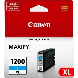 Canon PGI-1200XL C Ink Tank Canon PGI-1200 XL Ink Cartridge - Cyan - Inkjet - High Yield - 900 Page - 1 / Pack