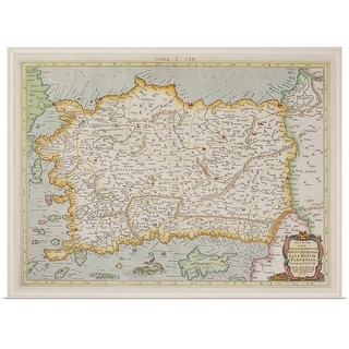 """""""Antique map of Asia Minor , present day Turkey and Cyprus"""" Poster Print"""