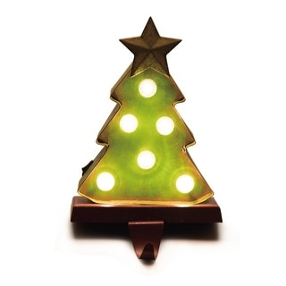 Link to Glitzhome Marquee LED Tree Stocking Holder Similar Items in Christmas Decorations