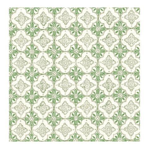 Seville Green Geometric Tile Wallpaper - 20.5 x 396 x 0.025