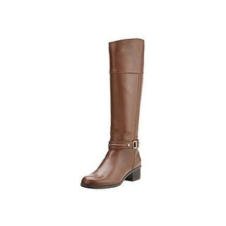 Bandolino Women's Wide Calf Tall Shaft Riding Boot with Ankle Hardware Detail