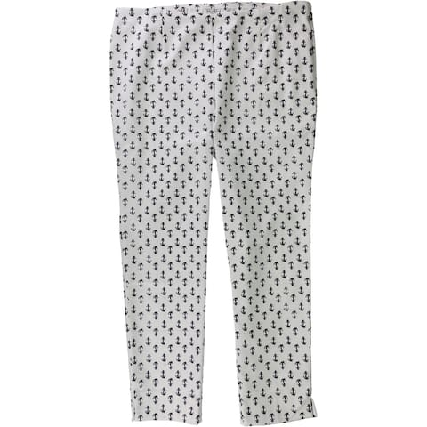 Charter Club Womens Anchor Pull-On Casual Trouser Pants, white, 14
