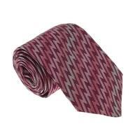 Missoni U5467 Pink/Red Flame Stitch 100% Silk Tie - 60-3