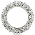 4.50 cttw. 14K White Gold Round Diamond Eternity Ring - Thumbnail 1