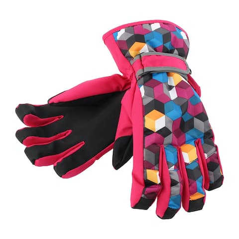 Outdoor Motorcycle Biking Snowmobile Snowboard Ski Gloves Athletic Mittens Red S