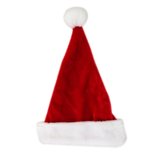 Unique Bargains Pom-pom Style Xmas Santa Claus Pattern Plush Hat Cap Red White