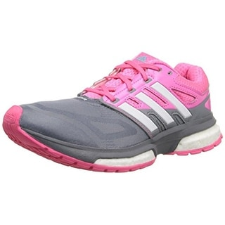 Adidas Womens Response Performance Techfit Mesh Lace Up Running Shoes