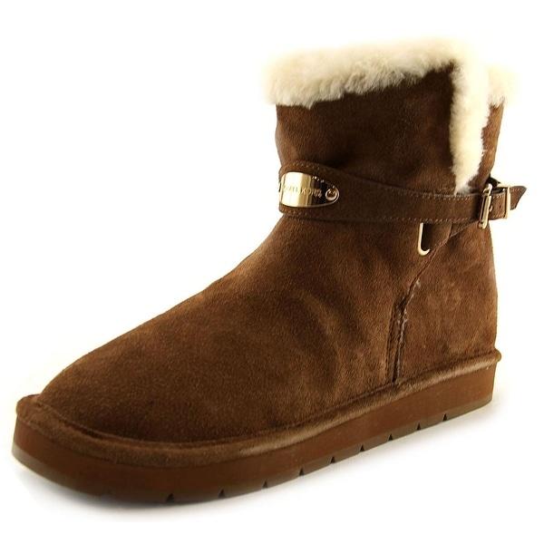 Michael Michael Kors Sandy Women  Round Toe Suede Brown Winter Boot