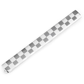 Stainless Steel Checkered Tie Bar