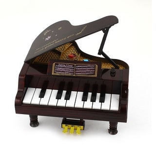 Children Plastic Crystal Decor Shell Brown 11 Keys Music Piano Toy Brown
