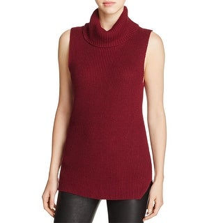 French Connection Womens Abel Turtleneck Top Sleeveless Cotton Blend