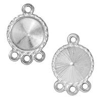 TierraCast Rhodium Plated Pewter Bead Almond Double Strand Reducer (2)