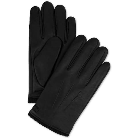 Calvin Klein Men's Winter Gloves Black Size Large L Triple Point Knit