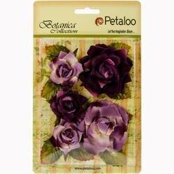"Lavender/Purple - Botanica Garden Roses 1.5"" To 2.5"" 5/Pkg"