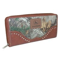 John Deere Women's Camouflage Zip-Around Wallet - One size