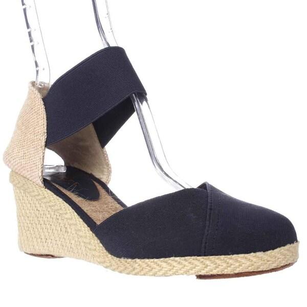 Lauren by Ralph Lauren Wedge Sandals, Navy